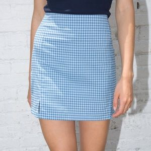 BNWT brandy melville blue plaid cara skirt